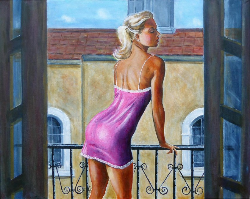 Jenni on the Balcony