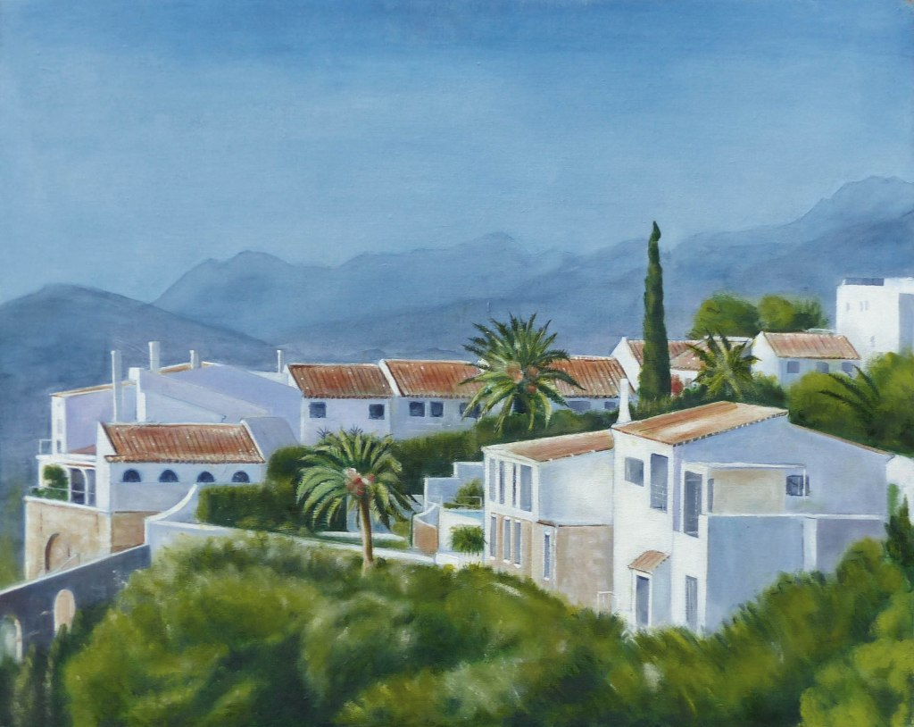 Ref: 0068. 'MIJAS PUEBLO, SPAIN'. Giclee Print on gallery quality art paper 308gsm. Image Size: 25.5cm x 38 cm. Price: £65.00 (VAT included + free delivery UK