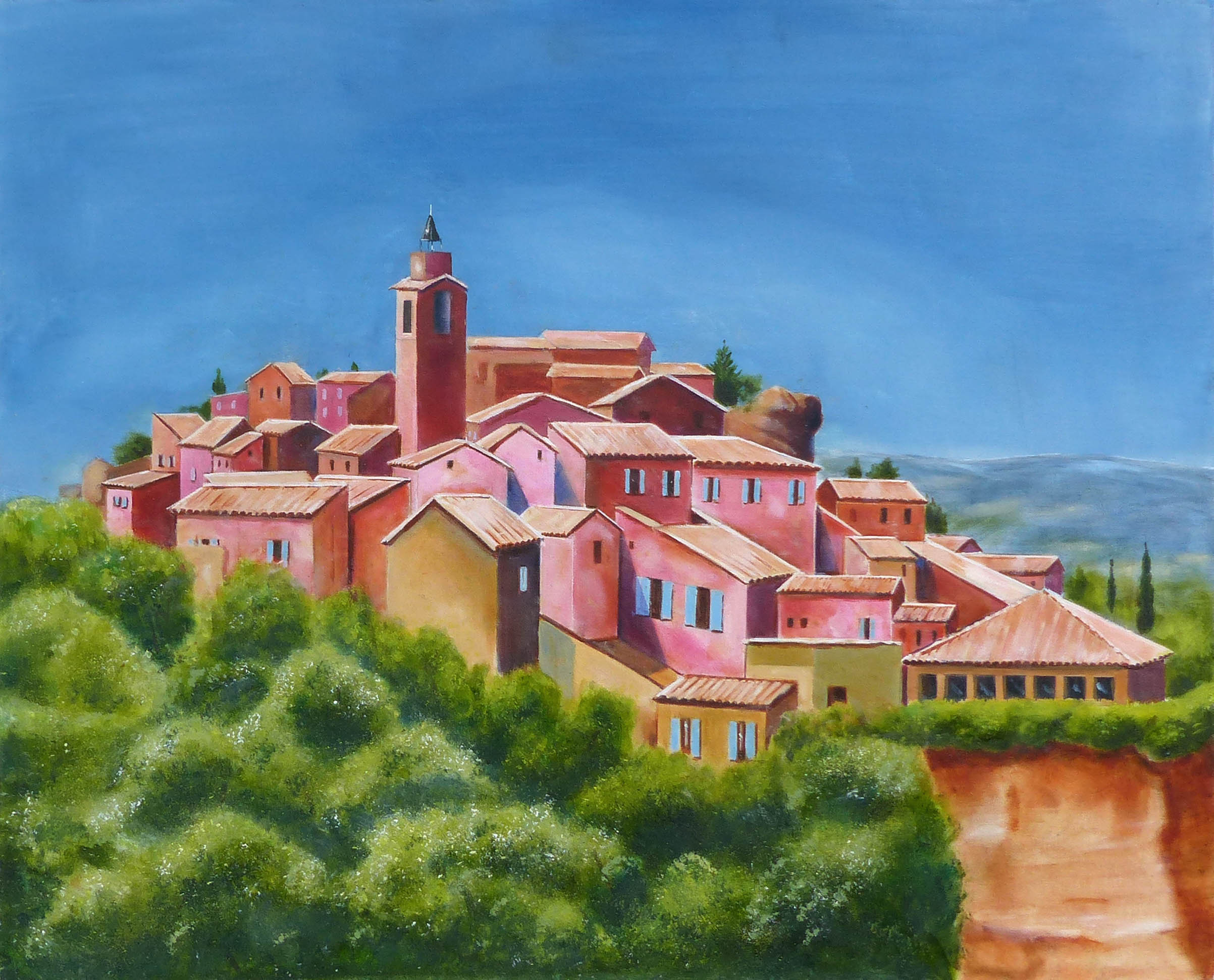 A typical hilltop village in the South of France, as seen from afar. Seemingly timeless.