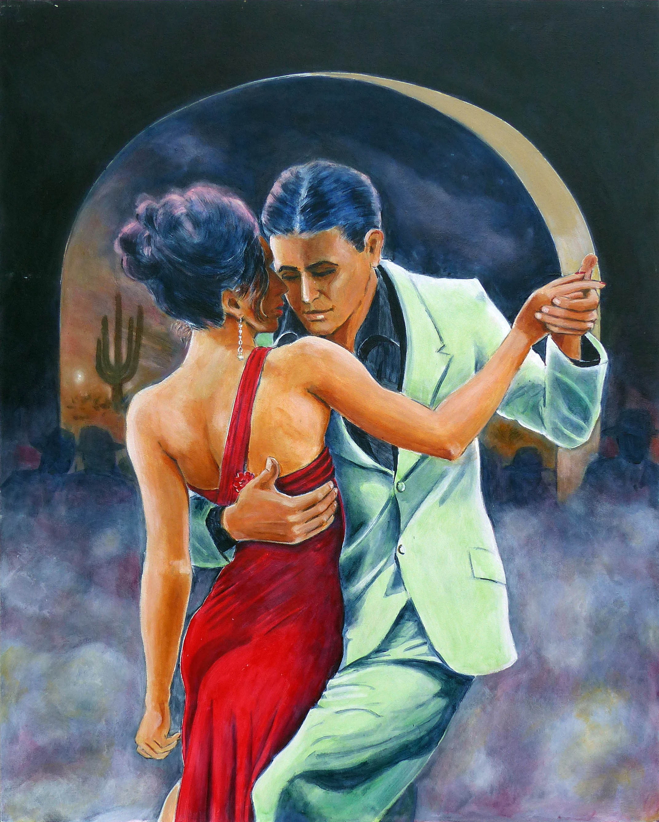 Down south near The Borderlands Latin rhythms reign supreme. Two dancers dance the night away,